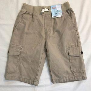 CAT&JACK Boys Tan Cargo Shorts Size 6/7 NWT